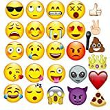 THEE 27pcs Emoji Foto Booth Lustige Requisiten für Party Kostüm Halloween Dekoration