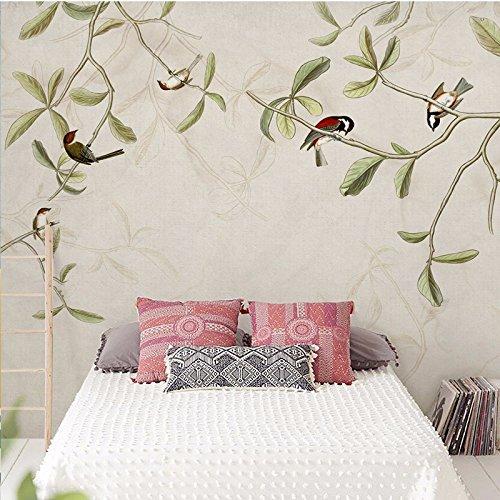 Blumen und Vögel einfach Chinesisch Zeichnung, Lounge, Zimmer, Schreibtisch, TV, Sofa, Kontext, Wand, Tapete, Satin ohne - Vögel Zeichnung