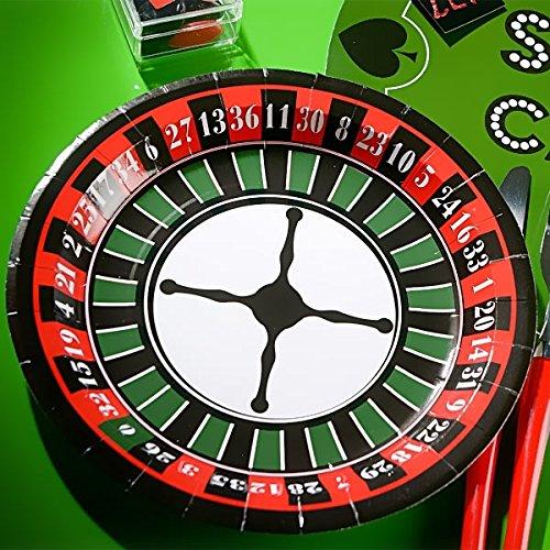 NEU Teller Poker, Ø 23 cm, grün, 10 Stück