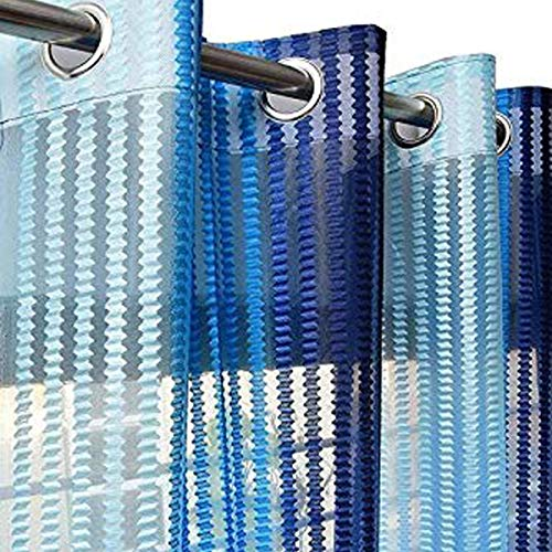 check MRP of blue net curtains Purav Light