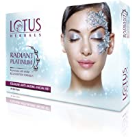 Lotus Radiant Platinum Anti-Ageing Facial Kit with 4 easy steps 37g (4 Use)