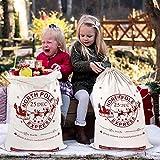 Aytai 2PCS Large Santa sacchi con cordino sacchetto di Natale, sacchetti regalo di Natale per bambini 70 x 50 cm tela Xmas Presents Storage