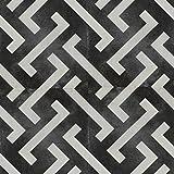 Zementfliesen Optik Gotik Depero 22,3x22,3cm | Boden-Fliesen | Zement-Fliesen | Dekor | Fliesen-Bordüre | Ideal für den Wohnbereich (auch als Muster erhältlich) (Paket)