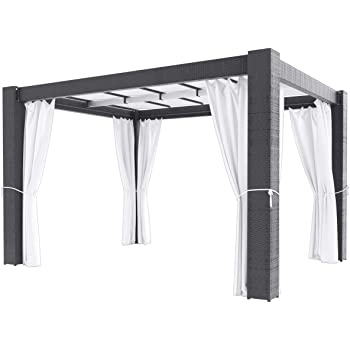 Artelia pavillon paloma 4x3 m grau for Gazebo 4x3 amazon