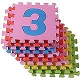 De alta calidad libres de BPA y formamida 30 Puzzle estera con esteras 9 de juego, alfombra de juego de los niños robustos, colchoneta aislante del frío, colchoneta de espuma con aislamiento acústico, paneles de mandos, contra pisos fríos y frío suelo. A medida que la barra de cangrejo de jugueteo, manta juego educativo. (1-9)