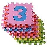 Di alta qualità BPA-libero e formammide mat 30 Puzzle con stuoie 9 gioco, tappetino giochi per bambini robusti, materassino isolante play-freddo, tappeto di schiuma con il suono-isolamento, game pad, contro pavimenti freddi e freddo pavimento. Come barra di granchio per sfogarsi, educativo coperta del gioco. (1-9) immagine