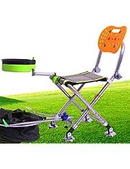 BUSL chaise pliante en acier inoxydable épais pêche télésièges portable de pêche multifonctionnel