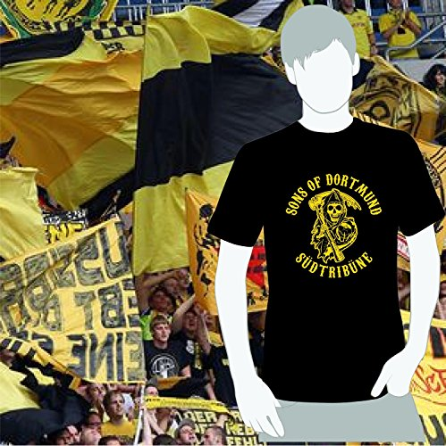 World of Football T-Shirt Dortmund SONS of Dortmund schwarz - XL