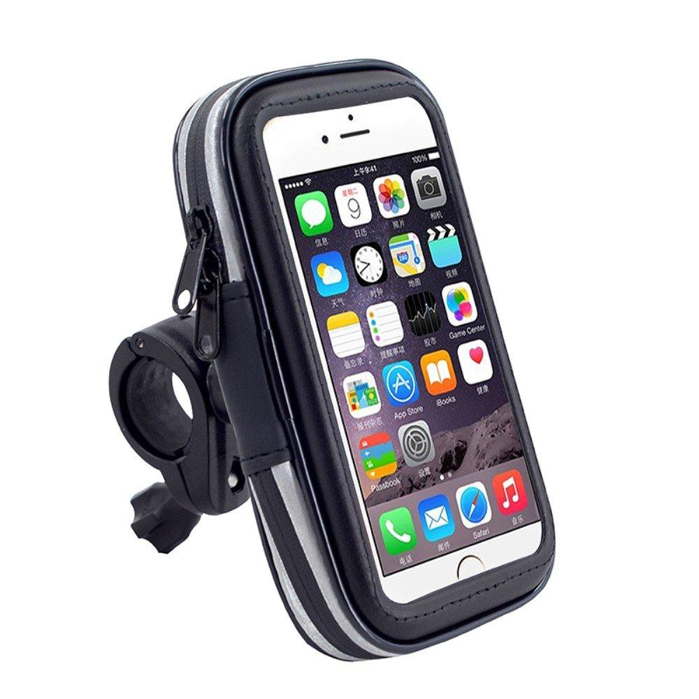 DFV mobile Soporte Profesional para Manillar de Bicicleta y Moto Impermeable Giratorio 360/º para = XIAOMI REDMI NOTE 4G  Negra