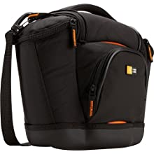 Case Logic Medium Nylon Bag with EVA Protection, Hammock and Extra Lense Storage for SLR Camera - Black