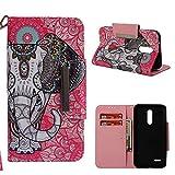 95Street Handyhülle für LG K10 2018 Schutzhülle Book Case für LG K10 2018 Hülle Klapphülle Tasche im Retro Wallet Design mit Praktischer Aufstellfunktion