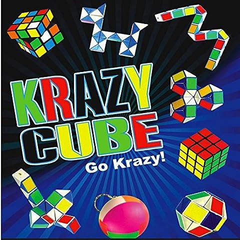 German Trendseller® - 6 x magique cube kit ┃ puzzle set┃ jeu de patience ┃jouer aux dés┃ jeux educatifs ┃ Party Box