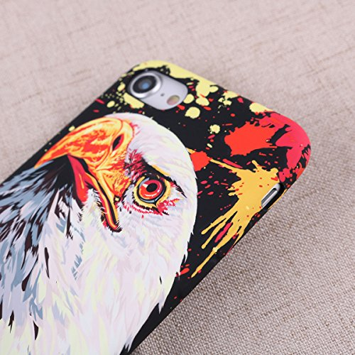 Geprägte American Eagle Print Telefon Fall Soft Anti-Kratzfest Stoßfest Slim Fit TPU Fall Telefon Fall Abdeckung für iPhone 7/8 -