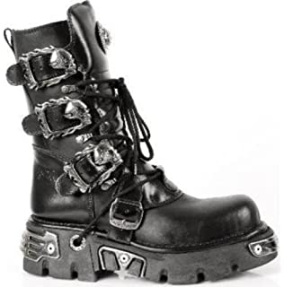 NEWROCK New Rock Stivali Uomo Stile 738 S1 Nero: Amazon.it