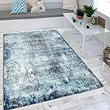 Wohnzimmer Teppich Indigo Blau Trend Modern Maritimer Stil Shabby Chic Design, Grösse:120x170 cm