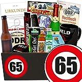 Geschenk zum 65. Geburtstag | DDR Paket Männer | GRATIS DDR Kochbuch | Männer Set