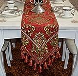 YOTA HOME Corridori da Tavolo Modern European Lusso Tabella Runner Tabella Mat, piantare Fiori Rosso tavolino Bandiera Runner da Tavolo (Dimensioni : 30 * 220 Centimetri)