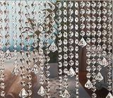 10m Guirnalda con Colgantes de Cristal Acrílico Clear