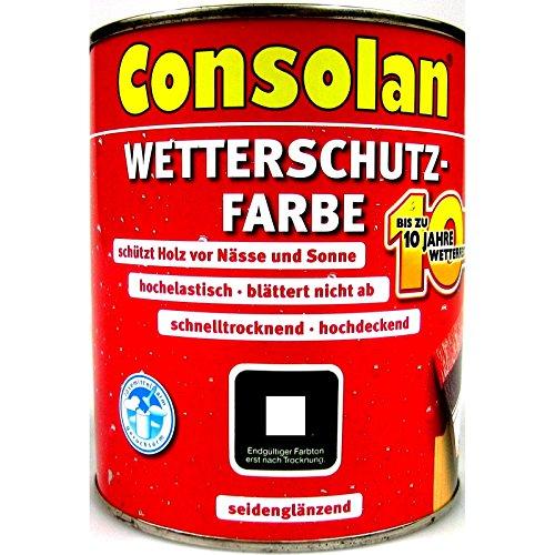 Preisvergleich Produktbild Consolan Wetterschutzfarbe, 2,5 Liter in schiefer Nr. 207