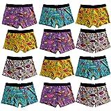 4-8-12er Set Kinder Jungen Boxershorts Baumwolle Pesail Unterhose Retropants Gr.92-104,110-122,128-134,140-146 (92-104, 12er)