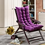 #10: AMZ Premium Quality Soft Home Office Cotton Seat Cushion Long Chair Pad Seat Pad Cushion Indoor Outdoor Dining Home Office Garden Decor (Purple,48 x 18 inches,Set of 1)