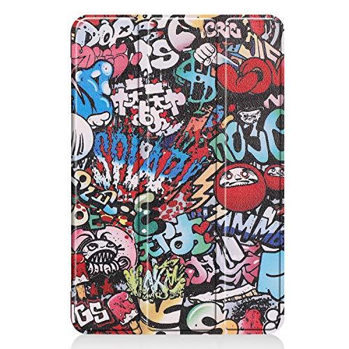 Hotbon Hülle kompatibel mit iPad Air 3 2019 10.5 Zoll,Ultra Schlank Smart PU Leder Case Cover mit Auto Schlaf-/Aufwachfunktion,Schutzhülle für iPad Air 3 2019,Graffiti Leder Smart Cover