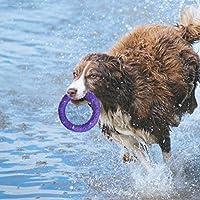 Dog Toys Bague de mastication, Pet formation Frisbee Interactive dent de chien Molaires Nettoyage, Anti-morsure Bubble Jouets pour chien pour l'extérieur jouer entraînement en Hongyh
