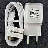 Originale Chargeur LG 1.8A + Cable Usb Data LG H540 G4 Stylus 3G / H635 G4 Stylus / H788 AKA / H815 G4 / H955 G Flex 2 / K100 K3 / K120E K4 / K350 K8 / K420N K10 / KF757 Secret (WHITE)