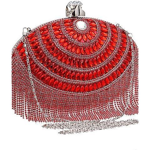 Da Wu Jia Ladies borsetta di alta qualità di lusso ellittica donne infiorescenza staminifera banchetti sacchetti di sera , blu