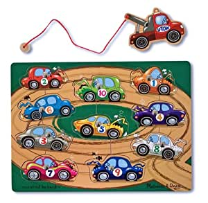 Melissa & Doug 13777 Tow Truck Magnetic Puzzle Game