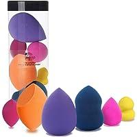Spugnette Make Up Miss Gorgeous Spugna Trucco Fondazione Blender Senza Latex 6 Pezzi Colorati con 3 Dimensioni Normali e 3 Mini Dimensioni
