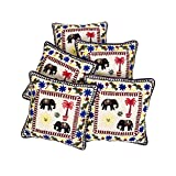 Rajrang Home Decor Off White Cotton Embroidered Cushion Cover - B00UYIJZUY