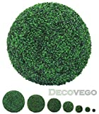 Buchsbaum Kugel Künstliche Pflanze Buxus Deko Innen und Aussen 8 - 55 cm Durchmesser Decovego, Durchmesser:55 cm