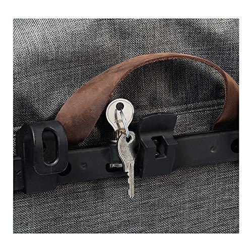 Racktime Unisex- Erwachsene RT Secureit Sidebag Pair, Silber, 2er Set / 4 Schlüssel