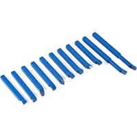 11 pièces 8 * 8mm bleu CNC outils de tour à métaux au carbure à pointe de soudure fraisage de coupe ensemble d'outils de…