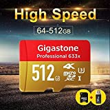 #4: Speed Gigastone Pro 512GB Micro SD Card U3 4K up to 95MB/s Memory+SDCard Adapter- 1 Year Warranty