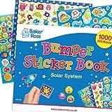 Baker Ross Pack Ahorro de láminas de Pegatinas del Sistema Solar proyectos de Manualidades Infantiles (Pack de 1000)