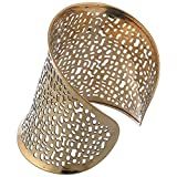 JDX Gold Plated Hand Cuff for Girls and Women_Adjustable