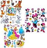 alles-meine.de GmbH 20 TLG. Set - 3-D Effekt - Glanz - Sticker / Aufkleber -  Disney Minnie Mouse / Princess / Tiere  - Soft Touch - selbstklebend / auch für Textilien & als Ki..