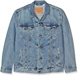 Levi's Herren Jeansjacke the Trucker Jacket Grau/Icy 0146, Large
