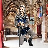 Kostümplanet® Ritter-Kostüm Kinder Jungen + Stiefel-Stulpen Faschingskostüm Größe 152 - 5