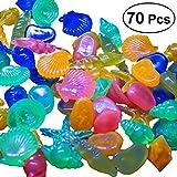 UEETEK 70PCS barlume nelle ciottoli scuri colorato acquario Rocce Decorative ghiaia luminoso per giardino Cortile serbatoio di pesci Pesce Ciotola Vaso Fatto A Mano Artigianato Decorazione