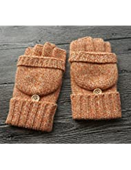 Longless Escritura de la pantalla táctil de la mitad del dedo de la señora del invierno de la señora del otoño que conduce los guantes engrosados ??de la pareja