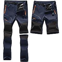 Zoerea Pantaloni Trekking Uomo Asciugare Rapidamente Traspiranti Convertibile Pantaloncini Primavera Estate Sottile All…