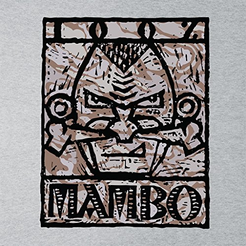 Mambo Nose Bone Alt Womens T-Shirt Heather Grey