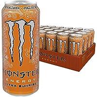 Monster Energy Ultra Sunrise mit erfrischendem, süßem Geschmack - ohne Zucker & mit wenig Kalorien / Energy Drink Palette / 24 x 500 ml Dose