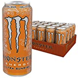 Monster Energy Flavour Ultra Sunrise mit erfrischendem, süßem Geschmack - ohne Zucker & mit wenig Kalorien / Energy Drink Palette mit 24 x 500ml Dosen