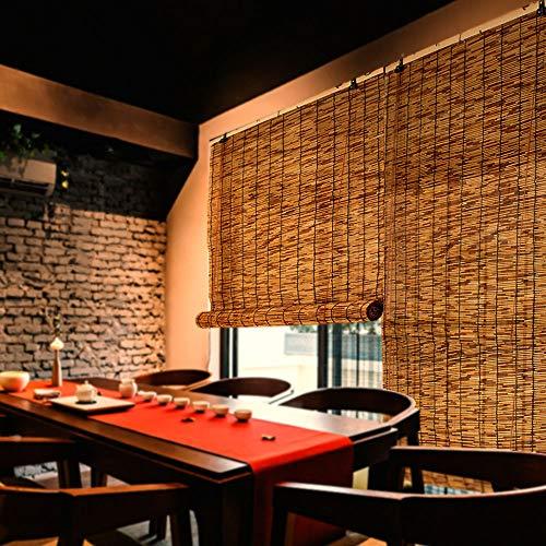 Natürliche Reed jalousien, Retro Bambus rollos, partition dekorative Stroh Vorhang, handgewebt, Sonnencreme, Sonnenschirm, größe kann angepasst Werden (Reed Jalousien)