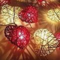 Rot Und Weiße Herz LED Lichterkette Von flowerglow von Flowerglow auf Lampenhans.de