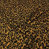 kawenSTOFFE Fellimitat Leopard Plüsch Stoff Kostüm Deko Kinderstoff Webpelz Meterware